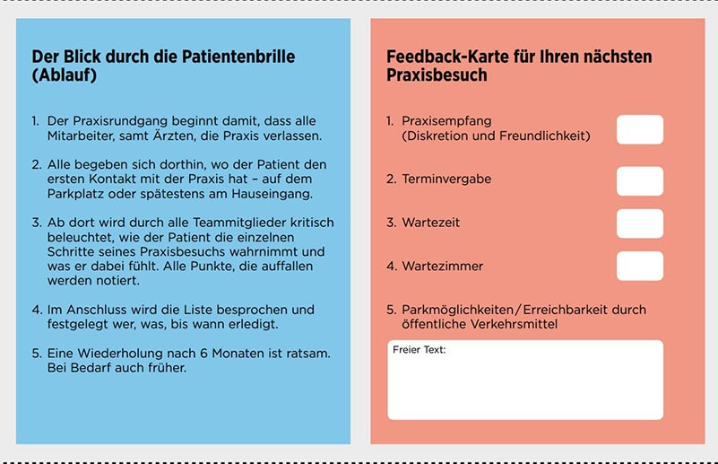 feedback karte arztpraxis
